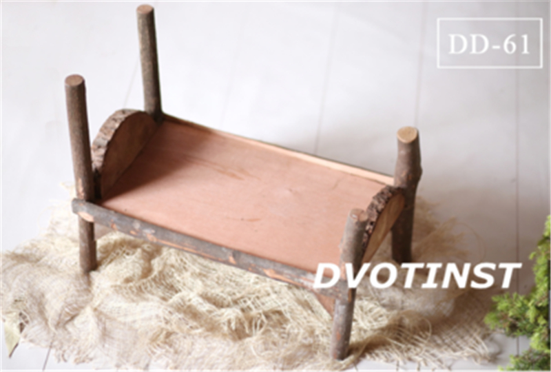 Image 2 - Dvotinst Baby Photography Props Wooden Bed Tub Case Fotografia Accessory Infant Toddler Studio Shooting Photo Props Shower Gift-in Hats & Caps from Mother & Kids