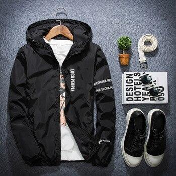 AFS JEEP Primavera Outono Fino Jaqueta Corta-vento Homens Plus Size M-4XL jaqueta masculina Slim Fit Jovens Homens Jaqueta bomber com capuz homens 1