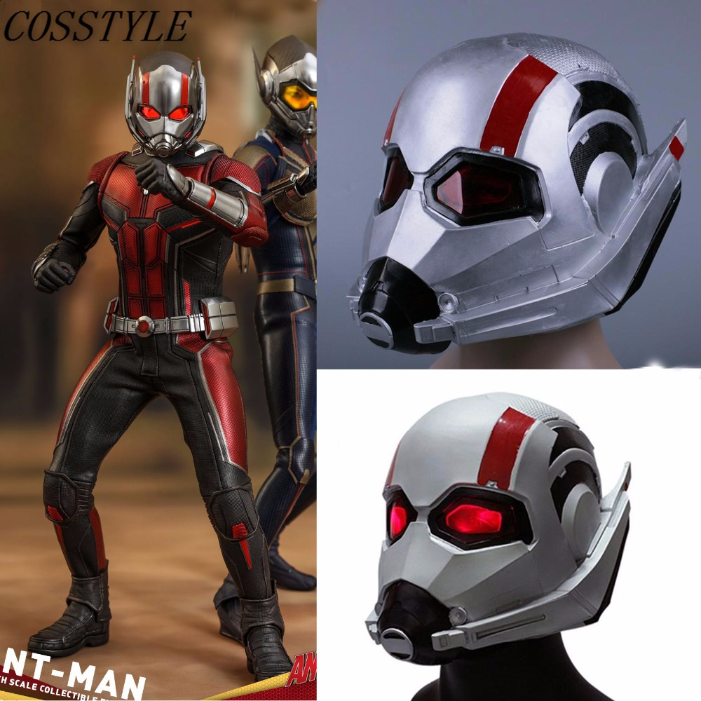 2018 Ant Man Latex Helmet Cosplay Ant-Man and The Wasp Superhero Woman Mask New