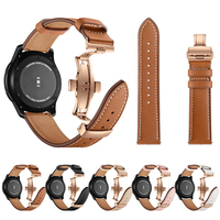 Strap For Samsung Gear S3 S2 Frontier Classic Leather Wrist Bracelet 20mm 22mm Band Sport Samsung Galaxy Watch 46mm 42mm Strap