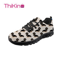 Thikin Dachshund Dog Hard-Wearing Casual Shoes Men Lightweight Breathable Safety Work  Construction Sneaker