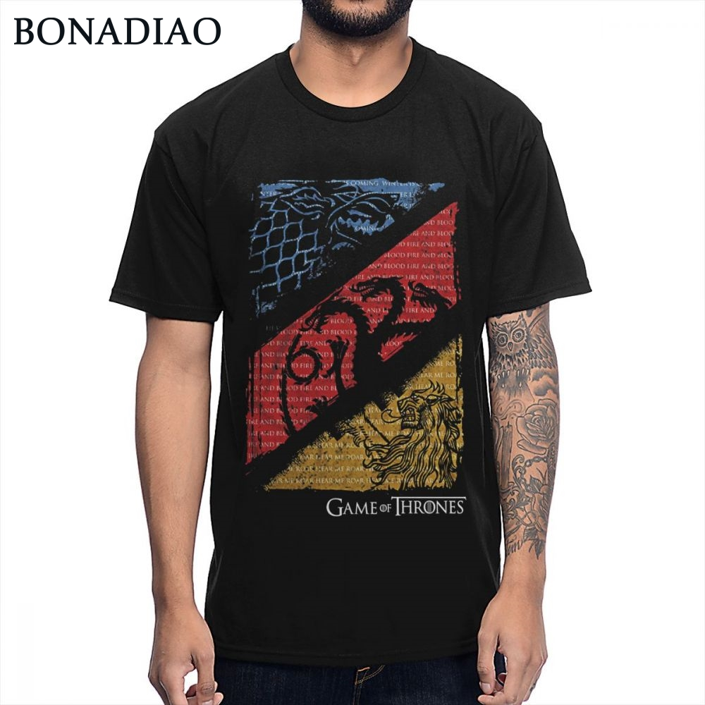 Game Of Thrones Camiseta Stark Houses Negro