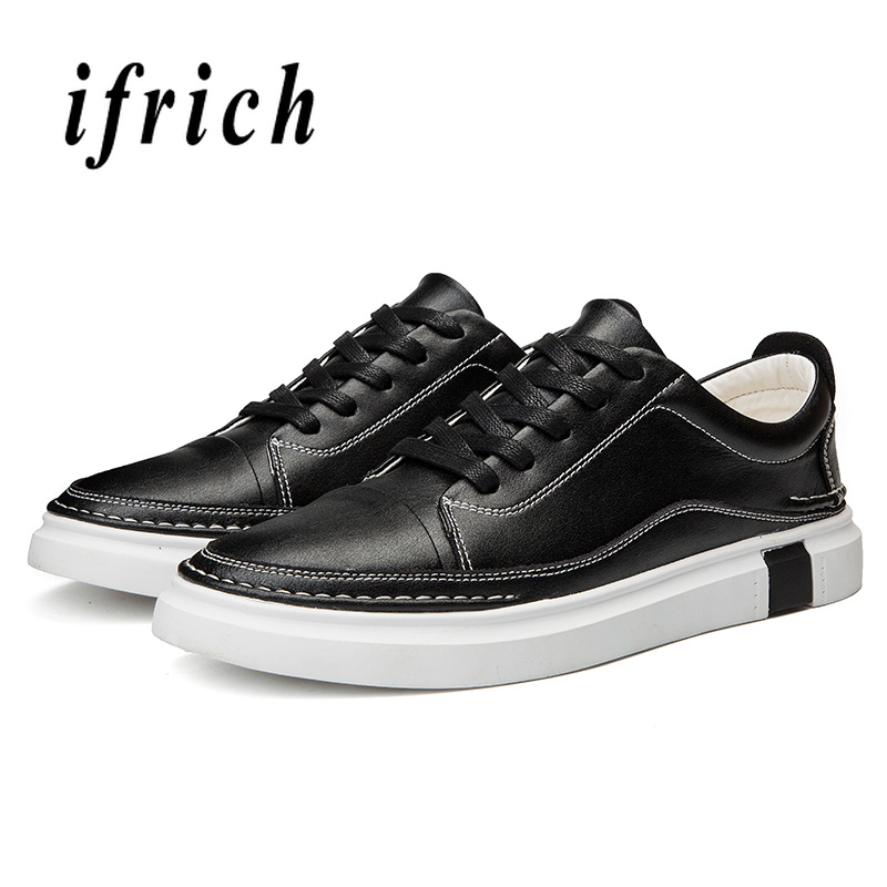 Spring Autumn Man Casual Shoes Black White Classic Male Shoes Lace Up Mens Walking Shoes Rubber Bottom Flat Footwear For Men