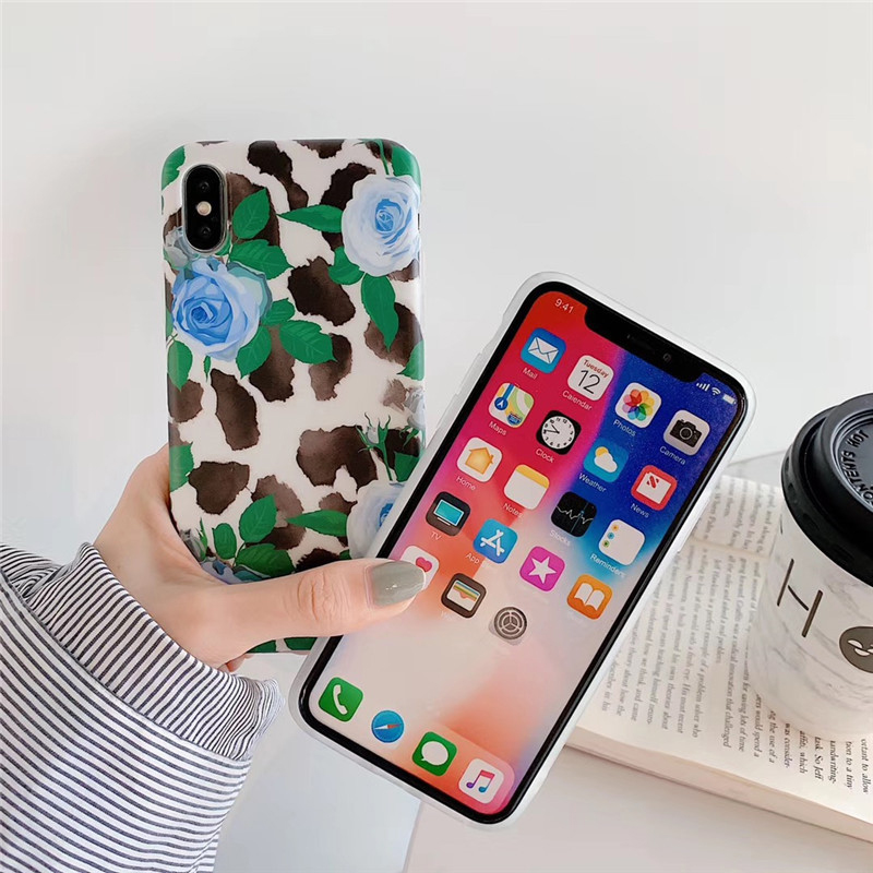 Ink Painting Rose Flower Coque For iPhone XS Max XR 8 7 6s Plus Ink Painting Rose Flower Soft Phone Case Back Cover For iphone 6 in Fitted Cases from Cellphones Telecommunications