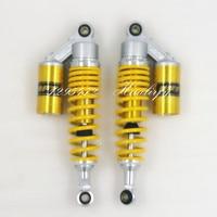 Universal 305mm 7mm spring motorcycle shock absorber assy for YAMAHA XV250 VIRAGO XV535 VIRAGO SR250 yellow&gold