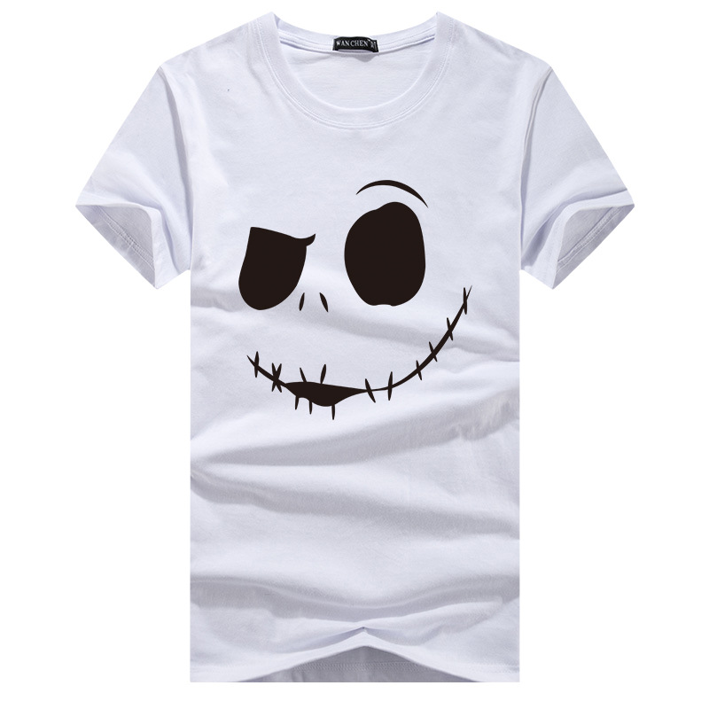 2019 Brand New Fashion Printing Face T Shirt Men's Short Sleeve Brand Design Autumn Wind Men's Shirt T Shirt Casual Men's T Shir