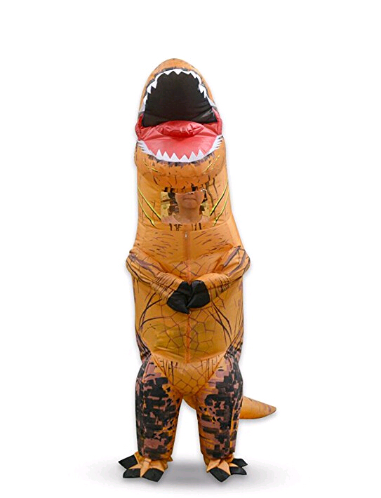 Inflatable Costumes Dinosaur Fancy Dress for Adult Kid Dinosaur Costume Dragon Blowup Halloween Set Jurassic World Cosplay