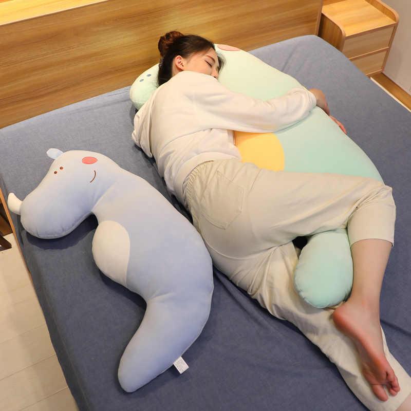 Tamanho grande Bonito Dos Desenhos Animados de Pelúcia Macia Animal Rato Algodão Para Baixo do Travesseiro Brinquedo De Pelúcia Dormir Namorado Boneca Longo Travesseiro