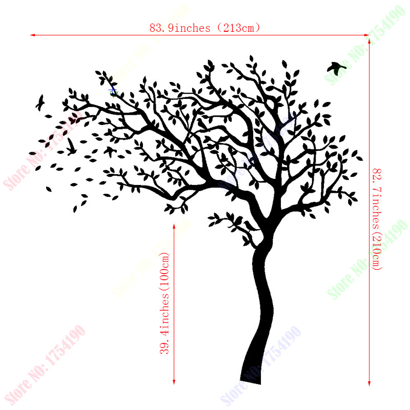Aliexpress.com : Buy Huge White Tree Wall Decal Nursery Tree And Birds Wall  Art Baby Kids Room Wall Sticker Nature Wall Decor 213X210CM From Reliable  White ... Part 67