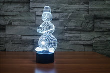 The new 7-color 3D USB creative Nightlight / LED lamp Cartoon Baby 136/ Free Shipping