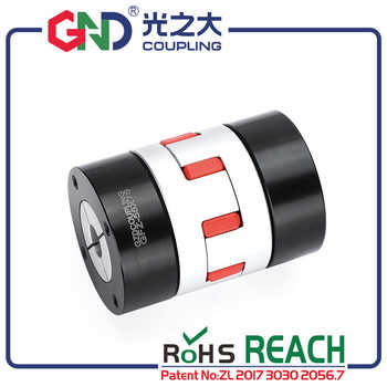 GND high standard aluminum alloy plum jaw locking assemblies CNC coupling D30 L50 diaphragm sleeve oldham flexible shaft couples