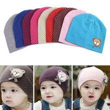 Прекрасный дети младенческой ребенка мальчики девочки мужская шапочка Hat медведь маркировки Cap 9 цветов