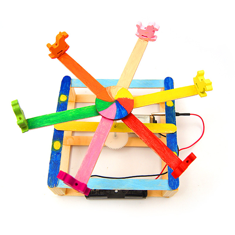 DIY STEM Toys For Children Physical Scientific Experiment Creativity Learning Educational Toy Merry-go-round Birthday Gift