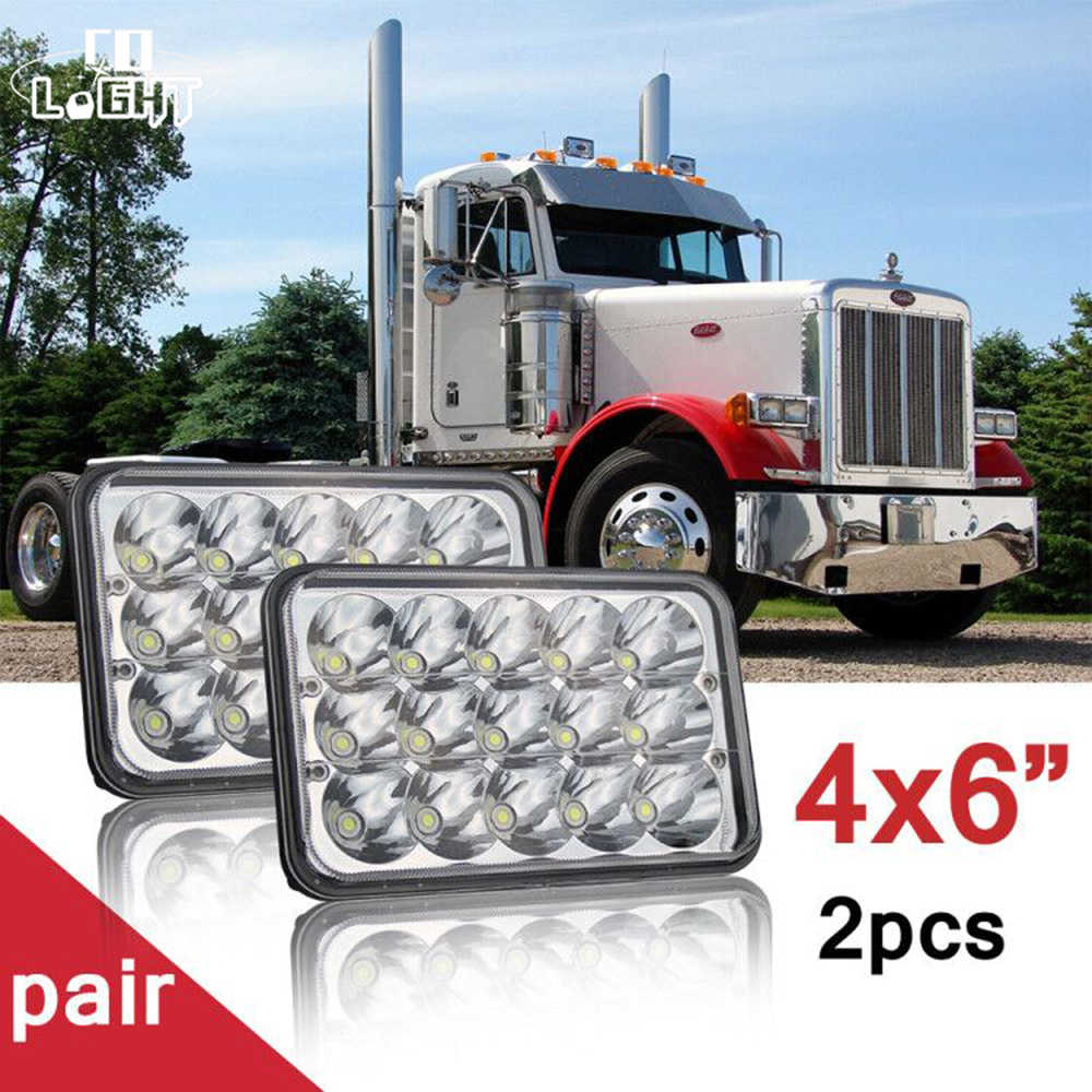 4PCS 4X6'' 45W Led Headlight High Low 18W Sealed fit for