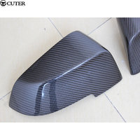 F10 F18 Paste type Carbon fiber Side mirror cover for BMW F10 F18 5 Series 14-16 Free shipping