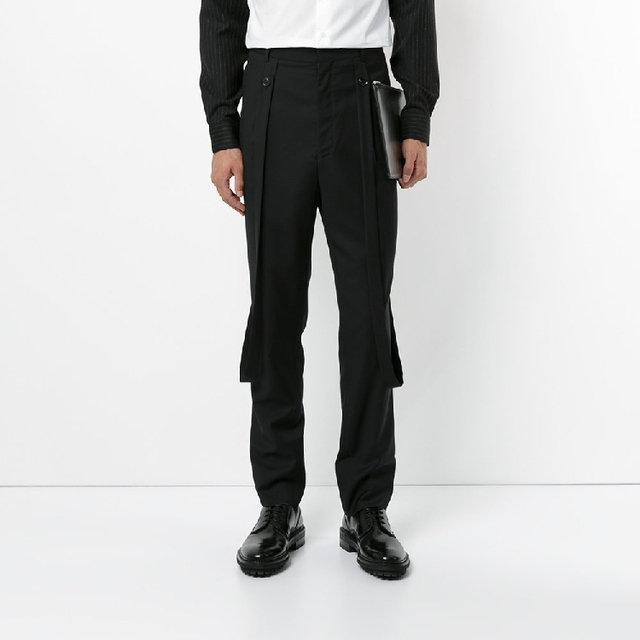 280a814b070 27-44 2019 New Men s clothing modern Hair Stylist fashion casual bib pants  trousers plus size singer costumes