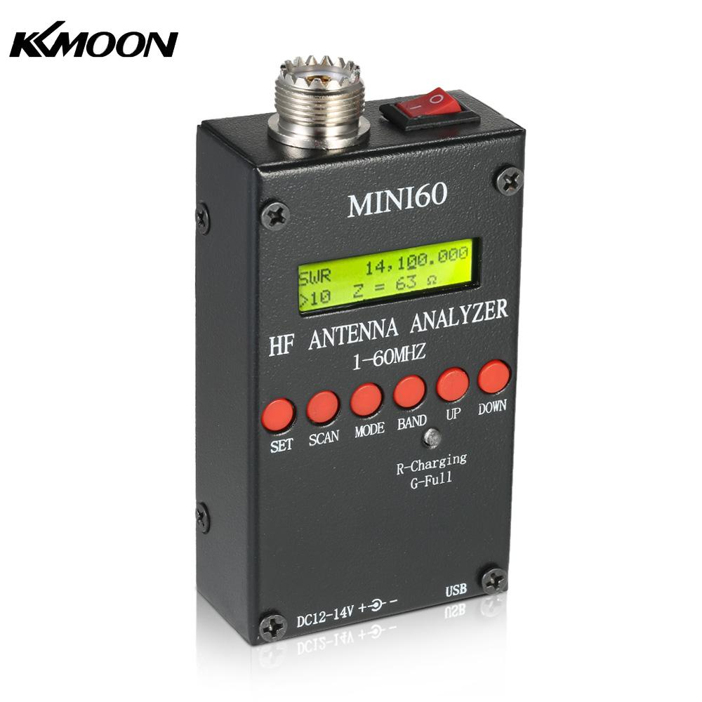 Mini60 Antenna Analyzer Meter 1-60MHz SARK100 AD9851 HF ANT SWR for Ham Radio Hobbists hot 1 60m hf ant swr antenna analyzer meter tester for ham radio free ship