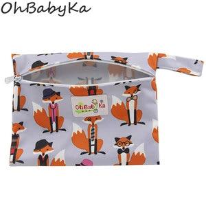 Image 2 - Ohbabyka Riutilizzabile Lavabile Wet Borsa Per Sanitari Pad Mestruale Sanitario Zia Bag Mama Tovagliolo Sanitario del Sacchetto del Rilievo di Dropshipping 6 Colori