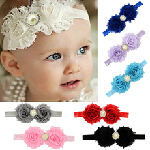 Hot High Recommend Baby Infant Toddler Girl Faux Pearl Rhinestone Flower Headband Hair Band Headdress 5BYP 7FQK