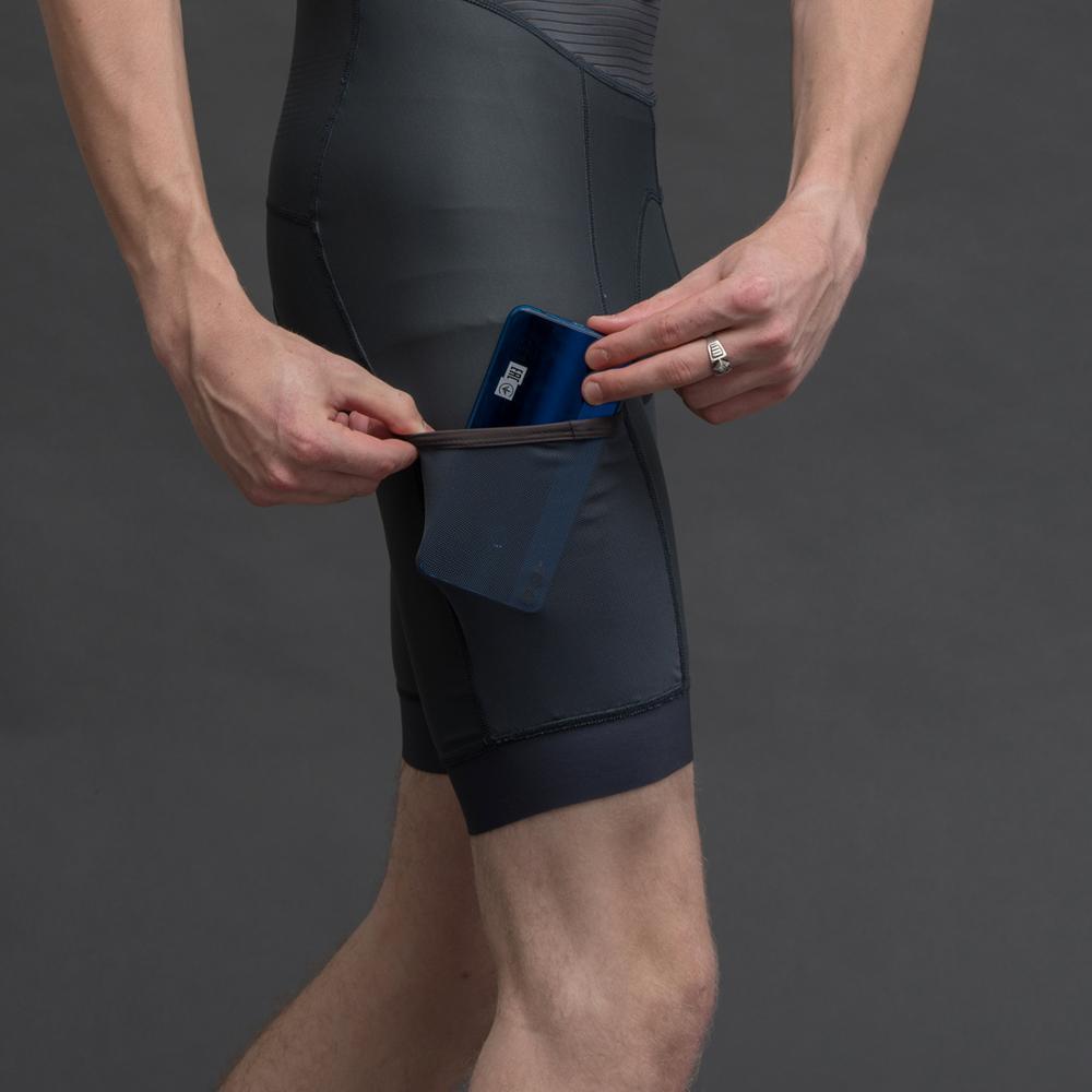 2019 SPEXCEL nuevos pantalones cortos de ciclismo gris oscuro con bolsillo Italia pad babero pantalones cortos para rider de 7-8 horas la mejor calidad - 4