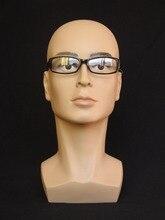 Plastic realistic mannequin men,mannequins display,mannequin dummy head,wigs & hat glass head display
