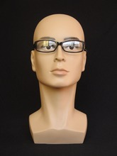 High Quality Realistic Plastic Male Mannequin Dummy Head For Hat/ Wig/ Mask/Sunglass Display,Manikin Heads