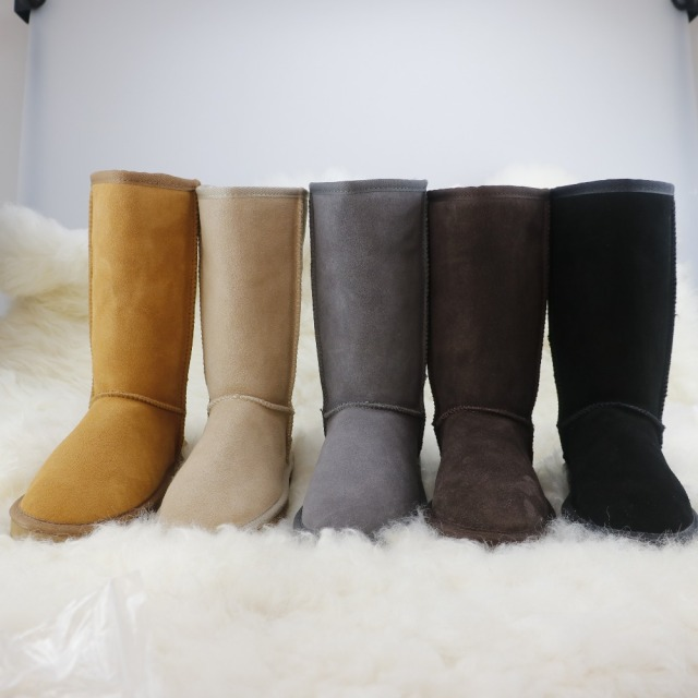 HKUGC Brand Classic Style Women Tall Snow Boots Winter High quality Waterproof Women's Boots Zapatos Mujer Long Botas Feminina