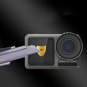 Image 3 - 1 ensemble de Film Pet clair trempé double écran pour DJI OSMO + protecteur dobjectif pour DJI OSMO accessoires de caméra daction ultra mince L0525 DJ