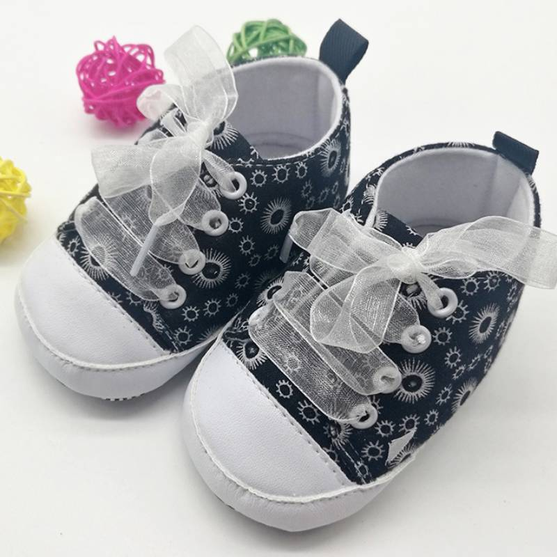 New Baby Shoes Newborn Baby Infant Toddler First Walkers Riband Big Soft Soled Ballet Shoes Crib Babe Prewalker ...