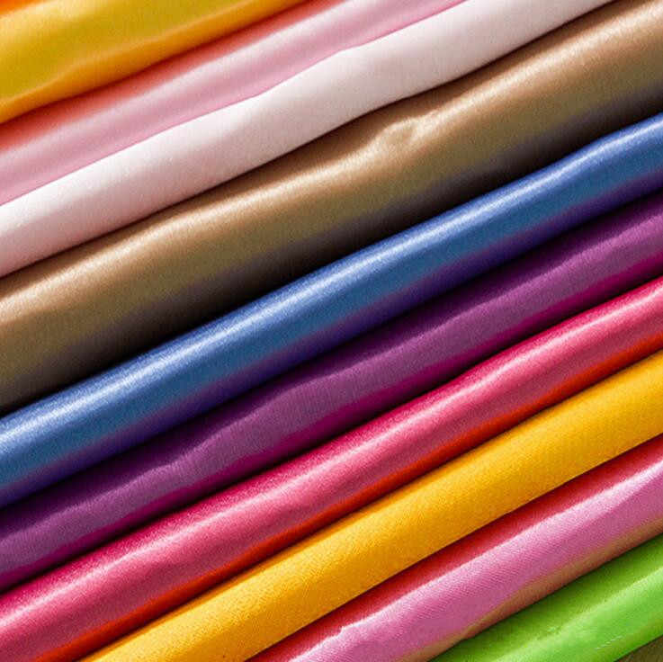 145 centímetros * 90 cinco centímetros Cor Sólida Imitado Tecido de Seda De Pano de seda Tecido de cetim de Poliéster Para O Vestido de Festa de Seda Falso tecido de cetim