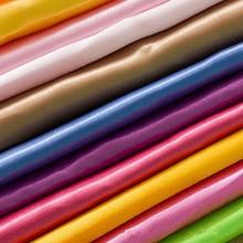 145cm * 90cm Solid Color Imitated Silk Cloth Satin Fabric Polyester Silk Fabric För Party Dress Faux Silk Satin Fabric