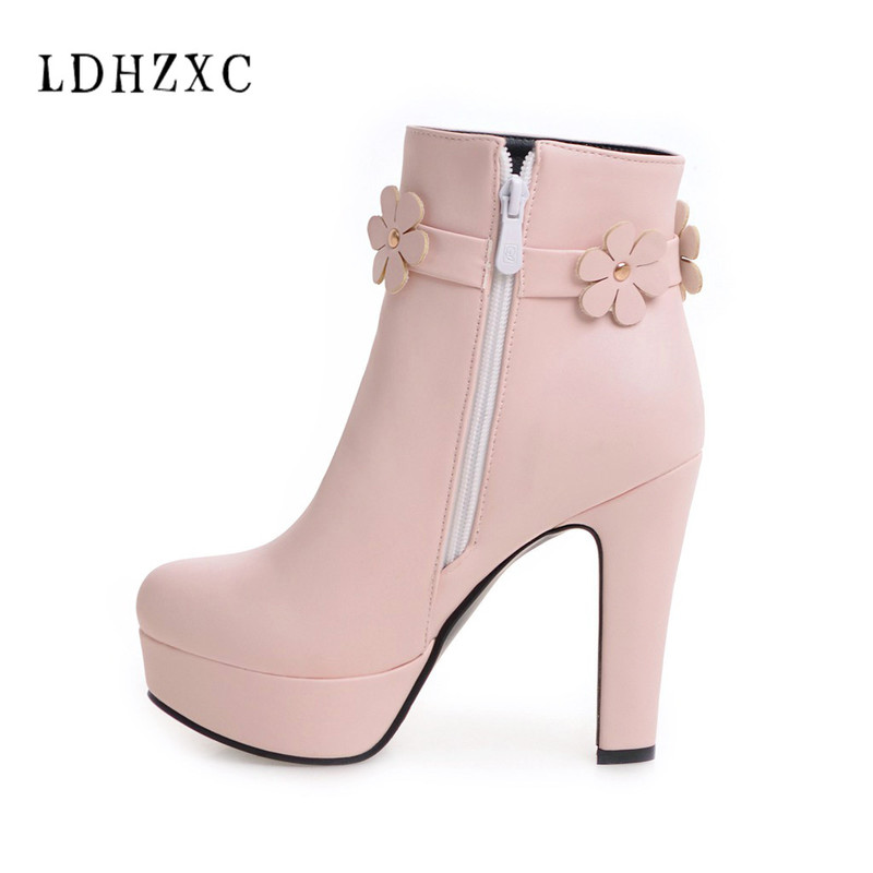 Detail Feedback Questions about LDHZXC 2018 new Women Boots Square High Heel  Boots Autumn Shoes round Toe Fashion platform Boots for Woman us size 12 13  43 ... 6cdf2dff5455