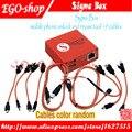 Original latest sigma box desbloquear e ferramenta de reparo do telefone móvel para nokia & zte & motorola para mtk & huawei (9 cabos) (versão básica)
