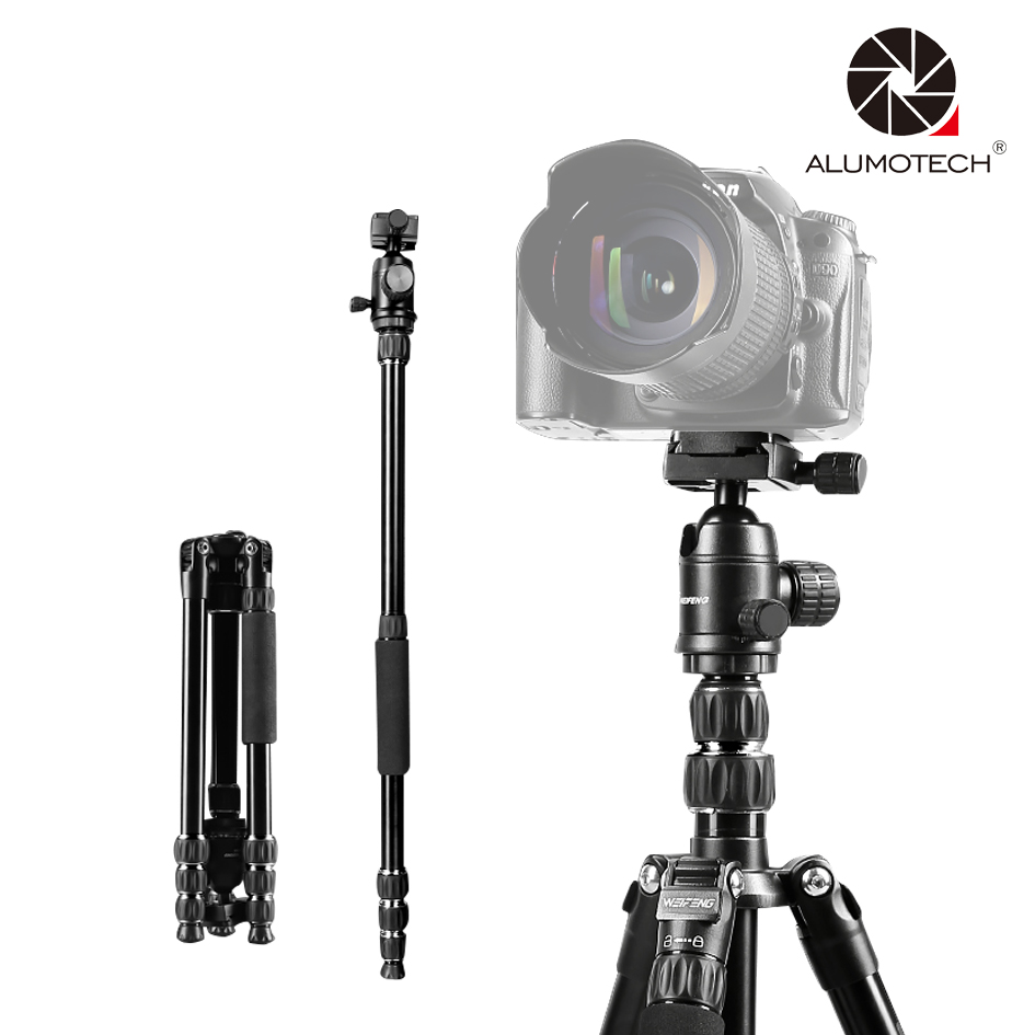 ALUMOTECH Carry Pro Multi-Function Tripod Stand for DSLR Cannon Nikon Camera Photo Video alumotech 5 sec foldable portable stand tripod vive support for camera film photo video