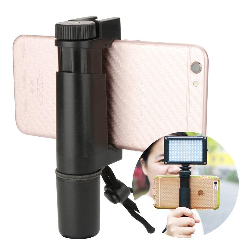 Ulanzi De Poche Téléphone Vidéo Titulaire Pince Grip Support avec Hot Shoe & 1/4 Vis, multifonctionnel Téléphone Trépied pour iPhone