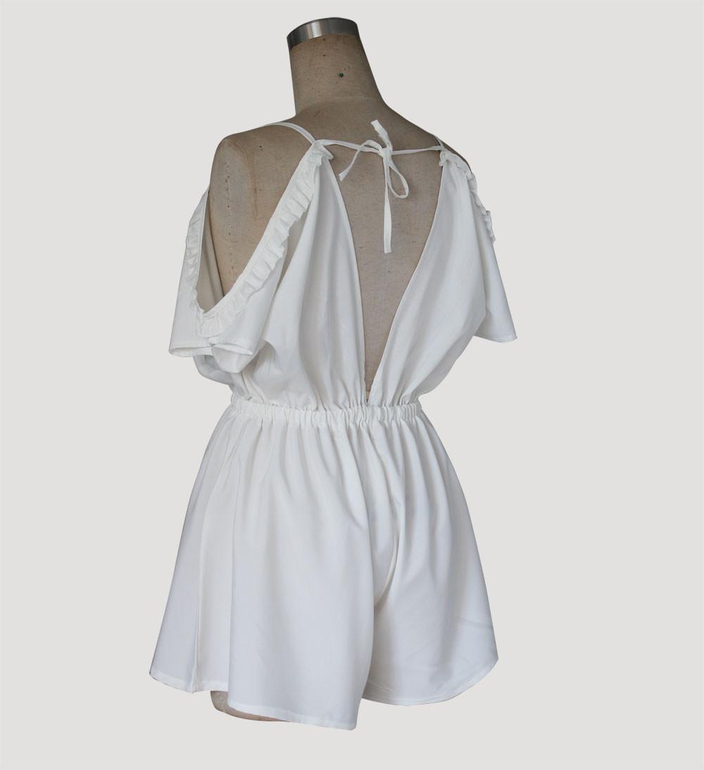 Summer White Black Off The Shoulder Playsuit Jumpsuit Macacao Atasan Sweden Putih Shop At Velvet Spc788009