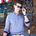 OSCN7 Loose Casual Long Sleeve Polo Shirts for Men 2017 Latest Fashion Leisure Business Polo Shirts Brand Polo Ralphmen