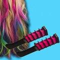 Nueva Cuidado Del Cabello Temporal Tinte de Pelo Peines de Cabello Semi-Permanente Polvo de Tiza de Color Con El Peine 4 Colores Multicolor Pelo Tinte 2016