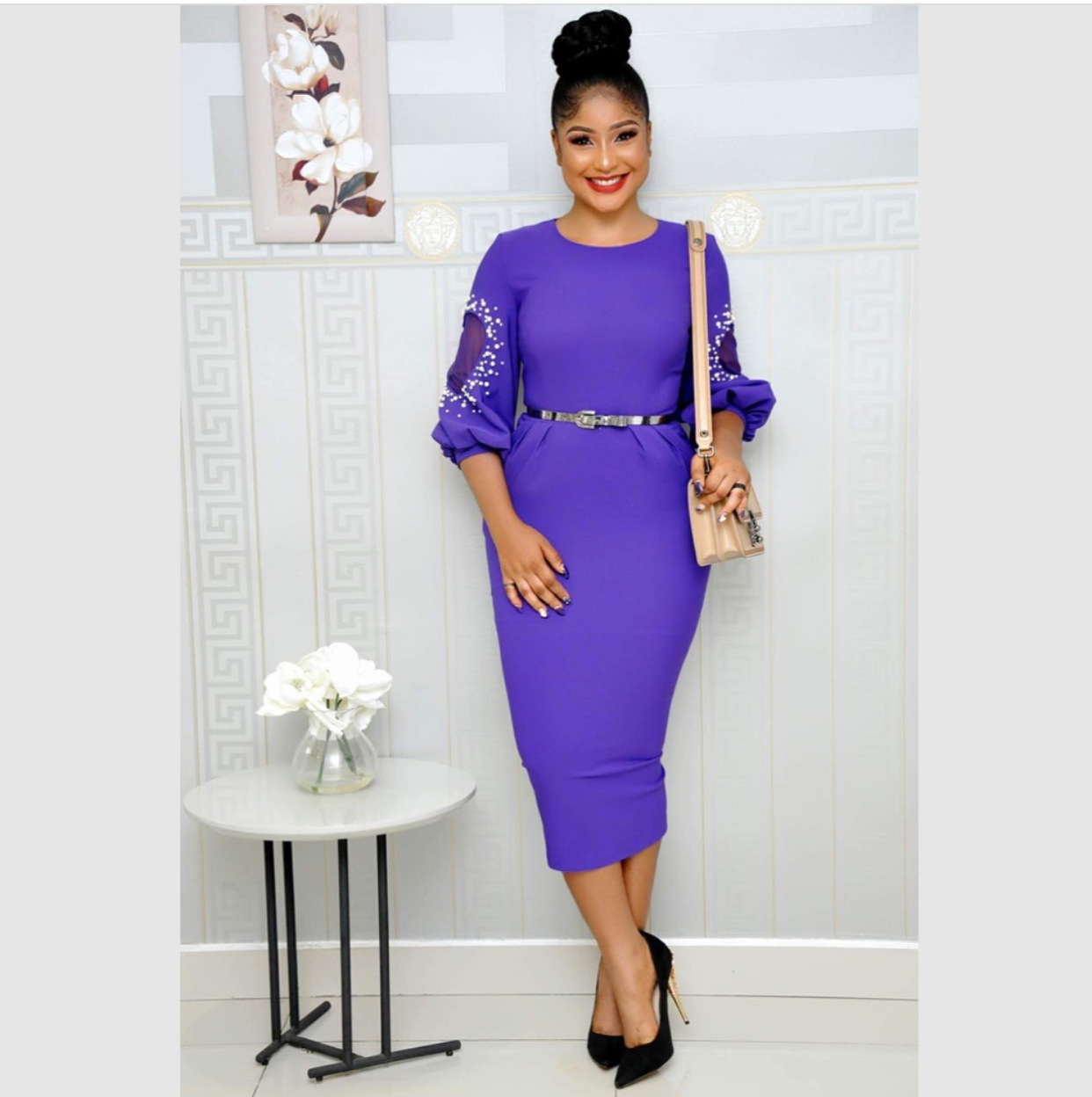 2019 New Arrival Summer And Autumn African Women Plus Size Dress M-XL