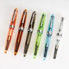 12 pcs/Lot Transparent color Fountain pens Jinhao Metal Iraurita nib 0.5mm Stationery Office School supplies Canetas FB618