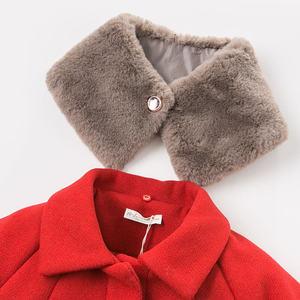 Image 4 - DB8680 dave bella baby wol jas chidlren mode jas met sjaal baby peuter boutique bovenkleding