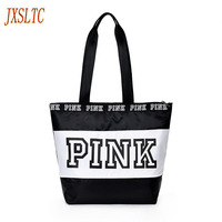JXSLTC Fashion Lady Weekend Travel Tote Bag Cosmetic Bag Pink WATERPROOF VS Bag Makeup Storage Bag