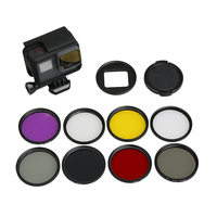 7 in 1 Camera Filter 52mm CPL FLD UV ND4 Red Yellow Sea Diving Filter + Ring + Lens Cap For Gopro Hero 7 6 5 hero(2018)