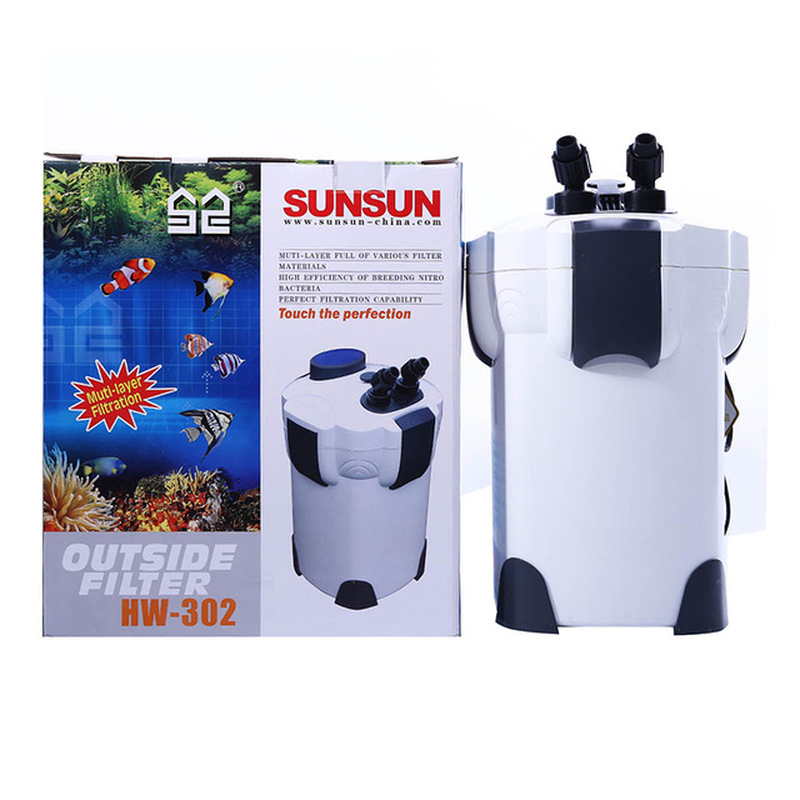 NCFAQUA SUNSUN HW 302 3 Stage Aquarium External Canister Filter 1000L/h Fish Tank Filter Pump Up to 75 Gallon