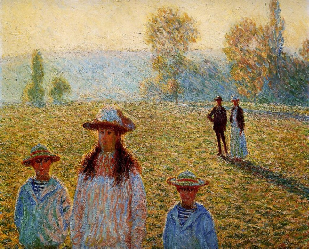 High quality Oil painting Canvas Reproductions Landscape at Giverny (1888) By Claude Monet hand paintedHigh quality Oil painting Canvas Reproductions Landscape at Giverny (1888) By Claude Monet hand painted