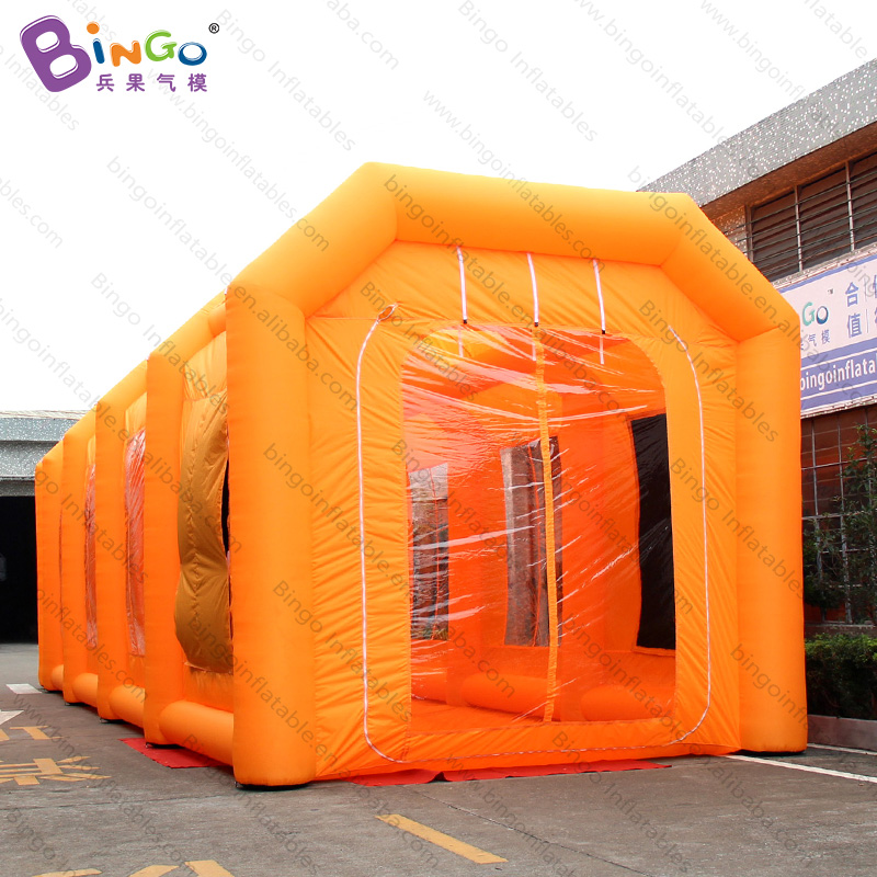 Humble Personalized 16.2x5x4.8 Meters Orange Inflatable Inflatable Truck Tent / Inflatable Paint Booth Truck Bus Spray Booth Toy Tents