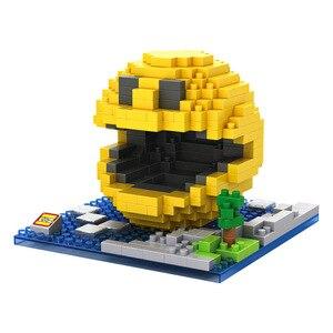 Image 3 - Piksel PacMan mikro blokları modeli DIY araya aksiyon CartoonFigure Donkey Kong Qbert yapı seti oyuncak çocuk hediye karikatür 9617 9620