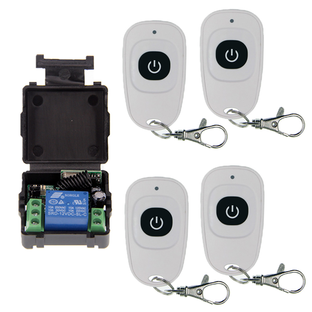 цена на Simple Mini Size DC 12V 1CH 1 CH 10A RF Wireless Remote Control Switch System, Receiver+ Transmitter ,315/433 MHz