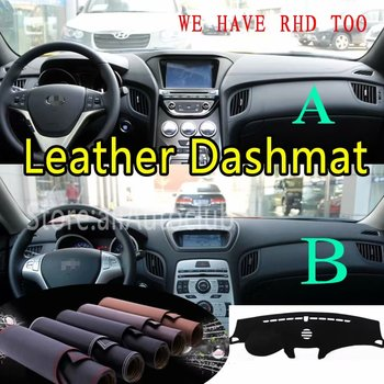 For Hyundai Genesis Coupe 2009 2011 2012 2013 2016 Leather Dashmat Dashboard Cover Dash Mat SunShade Carpet Custom Car Styling