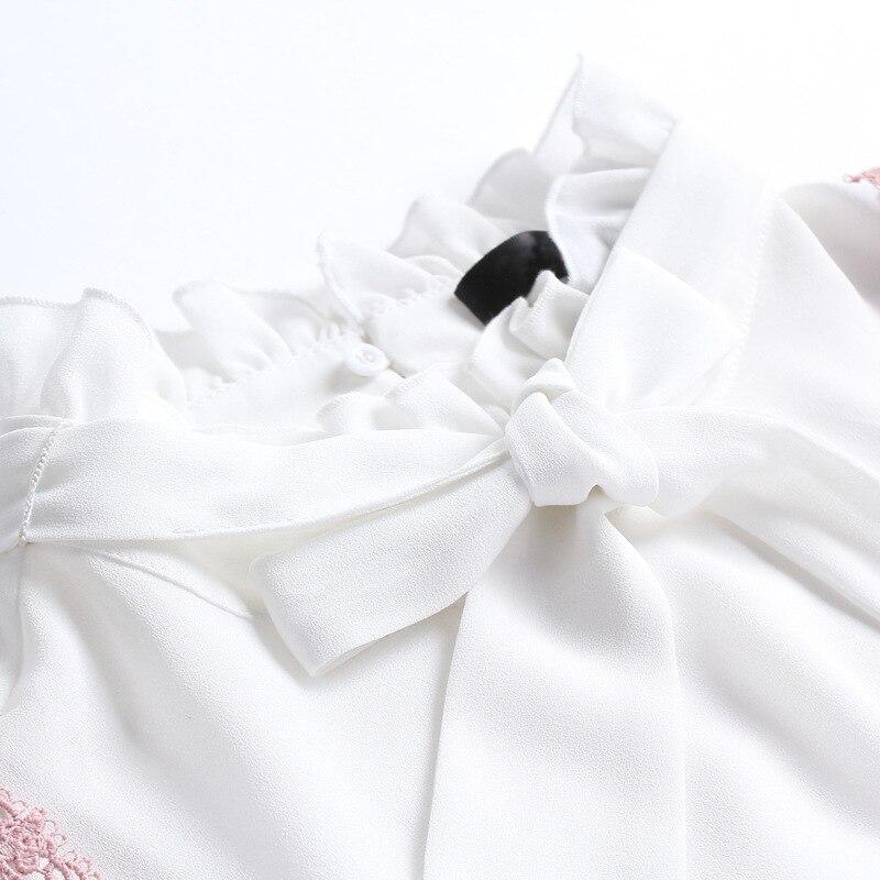 Femmes Plus 5xl Manches M Nouveau Set 4xl Robe xxxl La Chemisier Ouyalin Jarretelles Rose 2018 Dentelle Longues Robes Blanc Taille Tops Et It4x7wqPxn